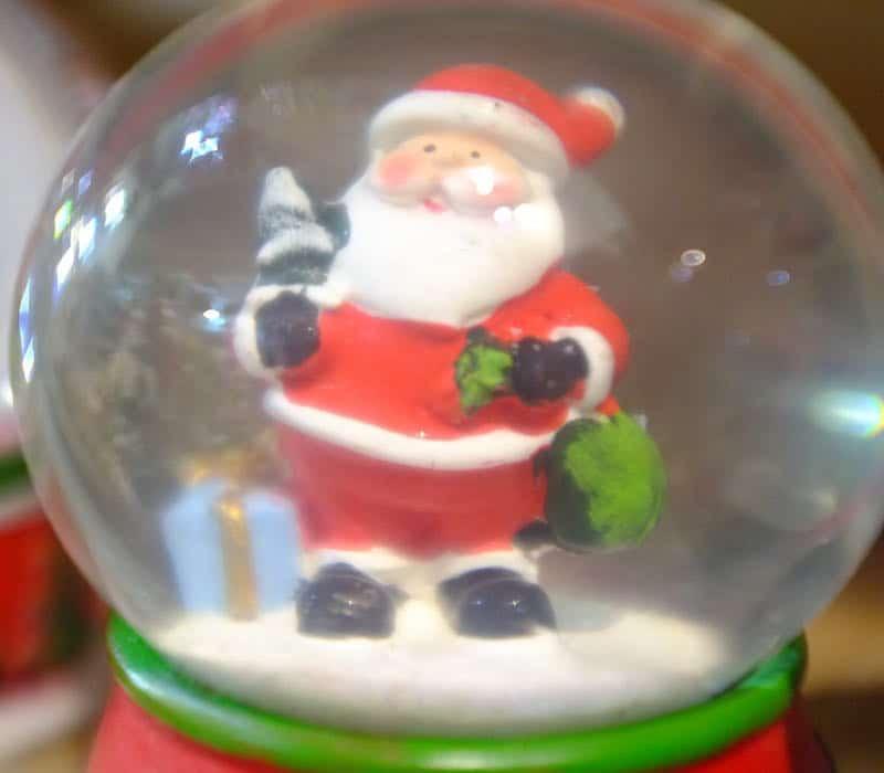 Globo de Neve Papai Noel XMAS Decor
