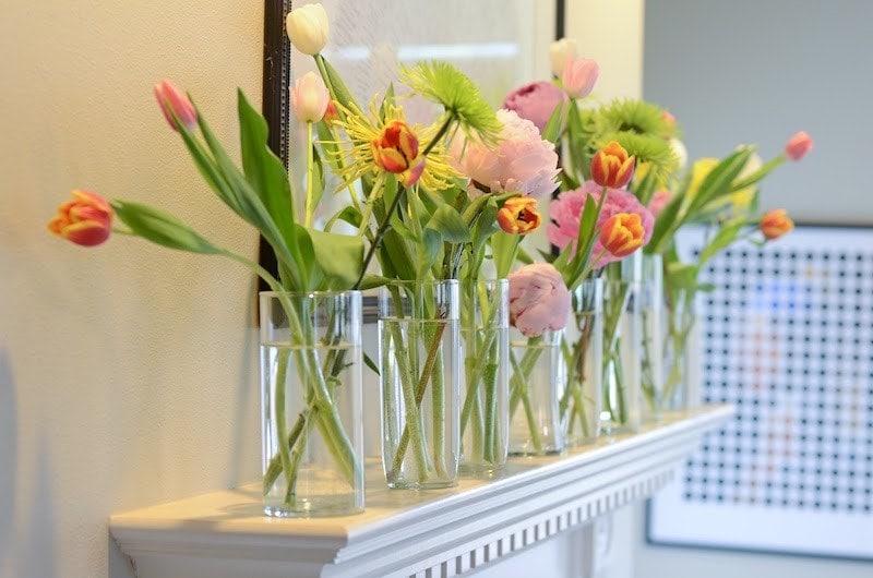 decorar quarto com flores